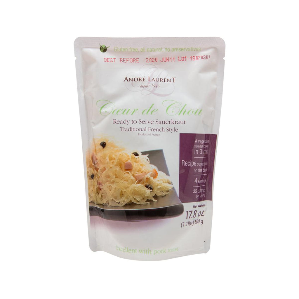 ANDRE LAURENT Ready To Serve Sauerkraut - Traditional French Style  (500g)