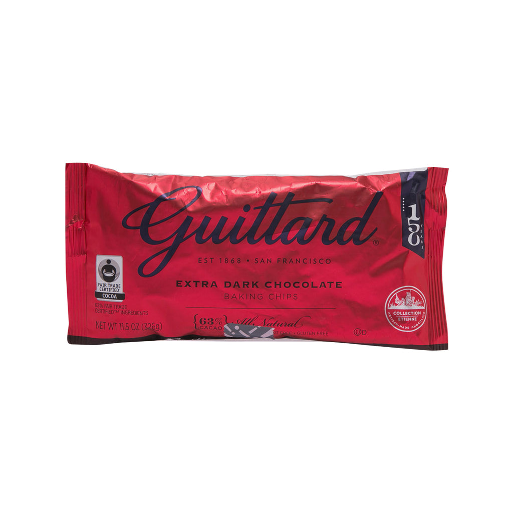 GUITTARD Extra Dark Chocolate Chips - 63% Cocoa Mass  (326g)