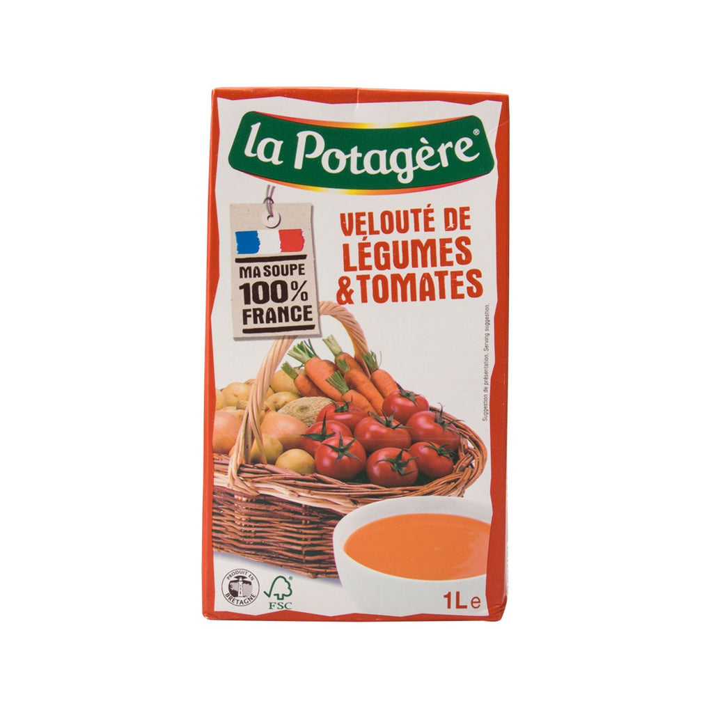 LA POTAGERE Tomatoes and Vegetables Creamy Soup  (1L)