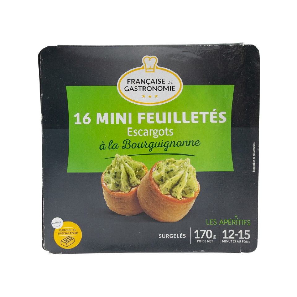 FRANCAISE GASTRO Mini Burgundy Snails Puff Pastry  (170g)