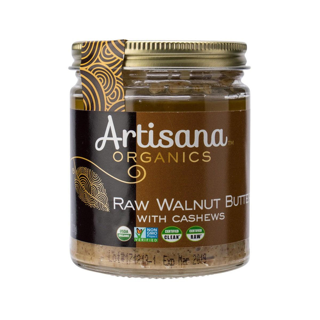 ARTISANA Organic Raw Walnut Butter with Cashews  (227g)