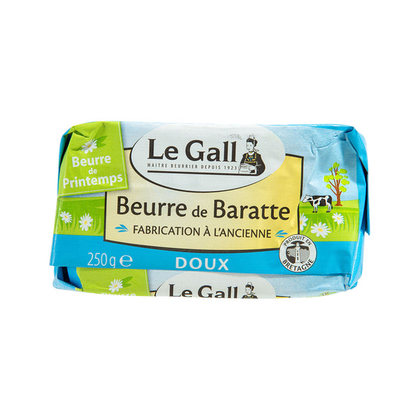 LE GALL Pasteurized Churned Butter - Unsalted  (250g)