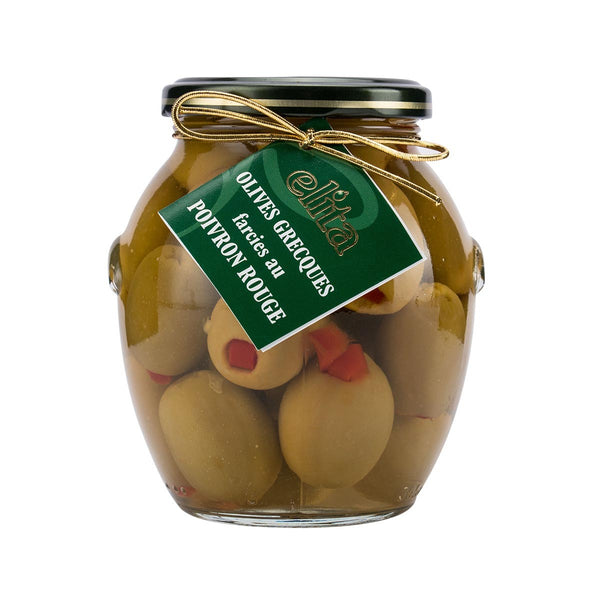Elita Greek Green Olives With Red Pepper Stuffing(390g)