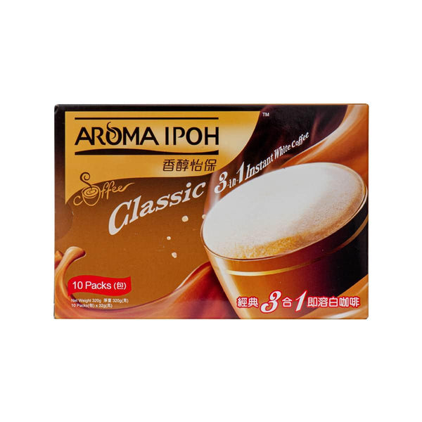 AROMA IPOH Classic 3-In-1 Instant White Coffee  (320g)