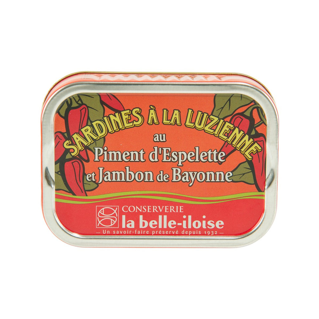 LA BELLE-ILOISE Sardines With Espelette Pepper And Bayonne Ham  (115g)