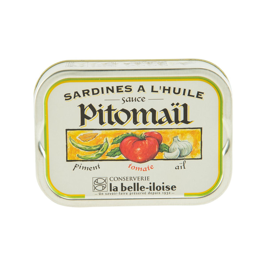 LA BELLE-ILOISE Sardines in Oil with Pitomail Sauce  (115g)