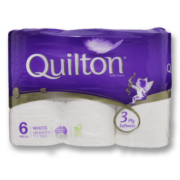 Quilton 3 Ply Classic Roll Tissue (Set of 6)
