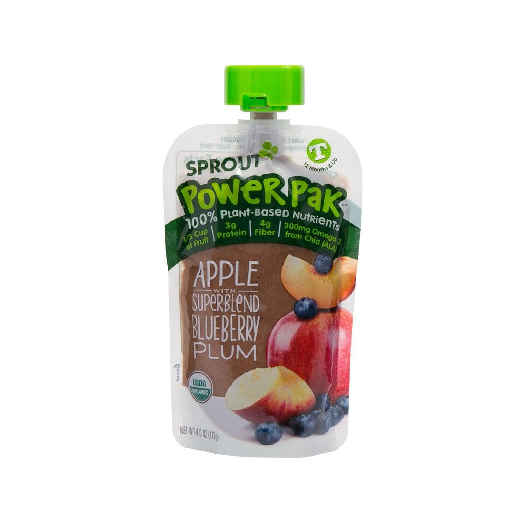 SPROUT Organic Toddler Puree - Apple Plum Blueberry Plum with Butternut Squash  (113g)