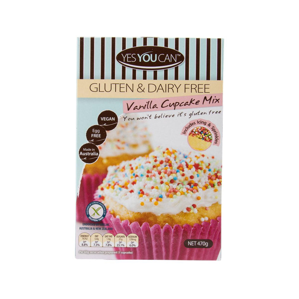 Yesyoucan Vanilla Cup Cake Mix - Includes Natural Sprinkles & Icing(470g)