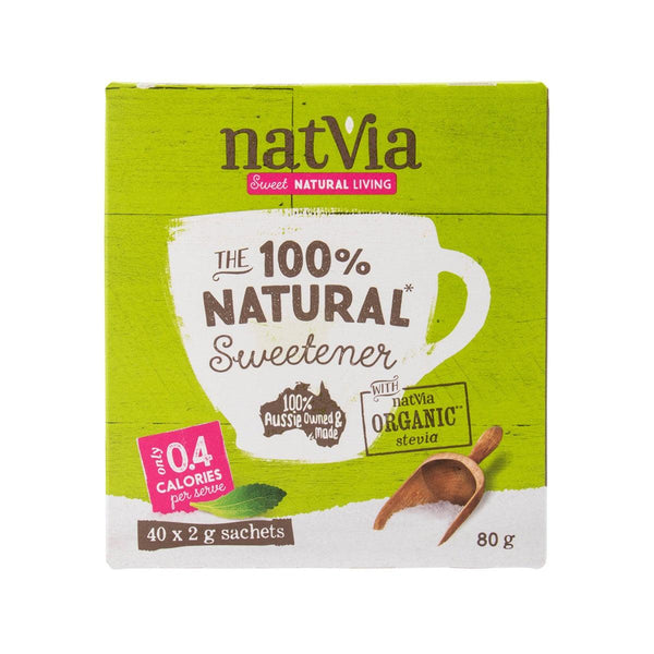 NATVIA The 100% Natural Sweetener - Organic Stevia  (80g)