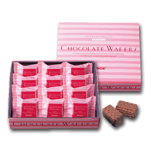 ROYCE' Chocolate Wafers - Strawberry Cream  (12pcs)