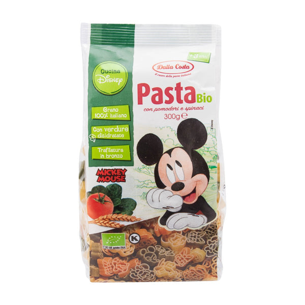 DALLA COSTA Organic Pasta With Tomato And Spinach - Disney Friends  (300g)
