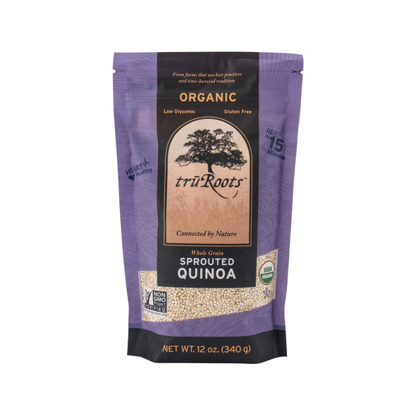 TRUROOTS Organic Whole Grain Sprouted Quinoa  (340g)
