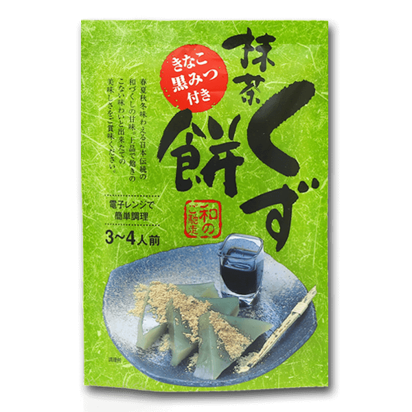 ITOKU Green Tea Kudzu Mochi Mix Set With Soy Flour & Brown Sugar Syrup  (95g)