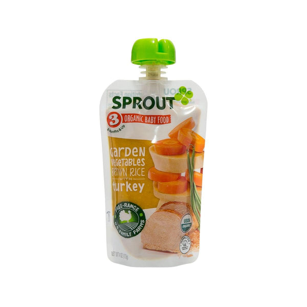 SPROUT Organic Baby Food - Garden Vegetables Brown Rice with Turkey  (113g)