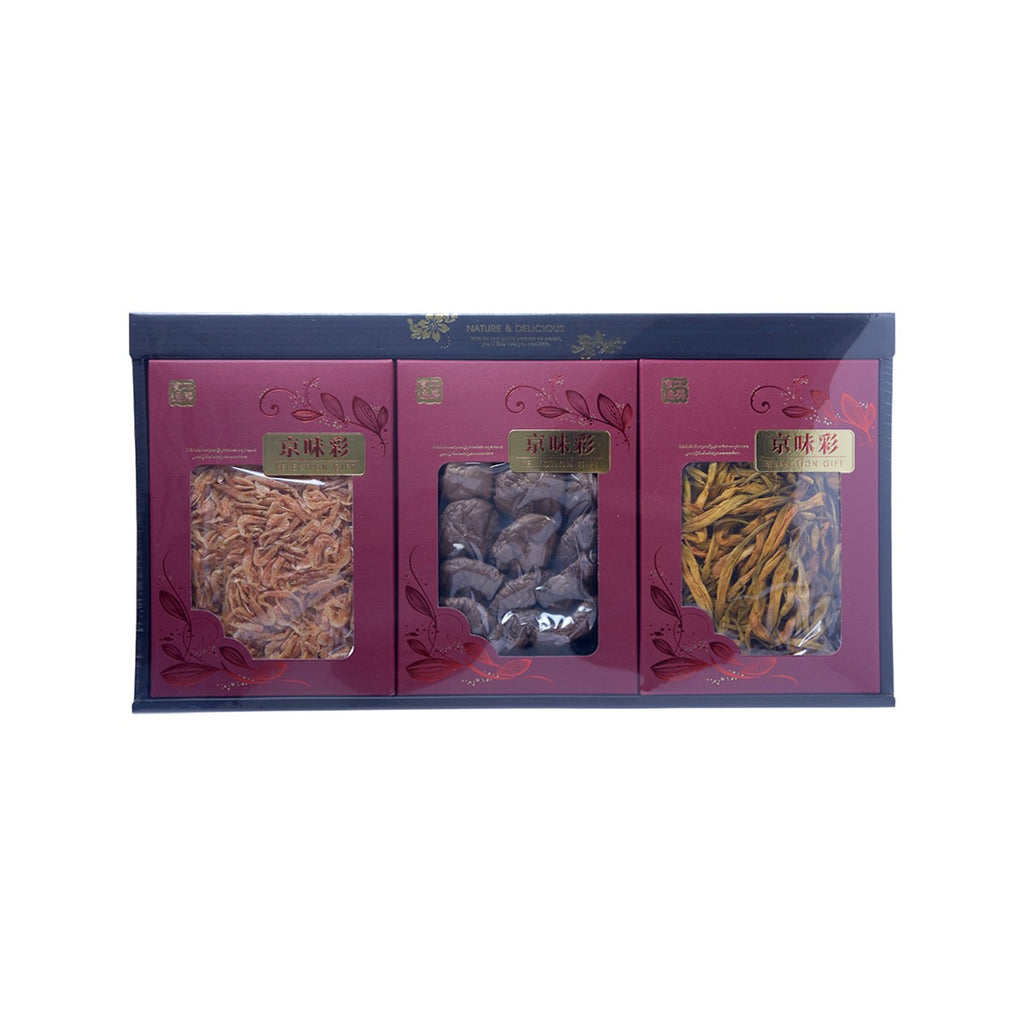 OMORIYA Dried Mushroom, Day-Lily & Sakura Shrimp Gift Set  (190g)