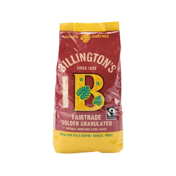 BILLINGTON'S Fairtrade Golden Granulated Natural Unrefined Cane Sugar  (500g)