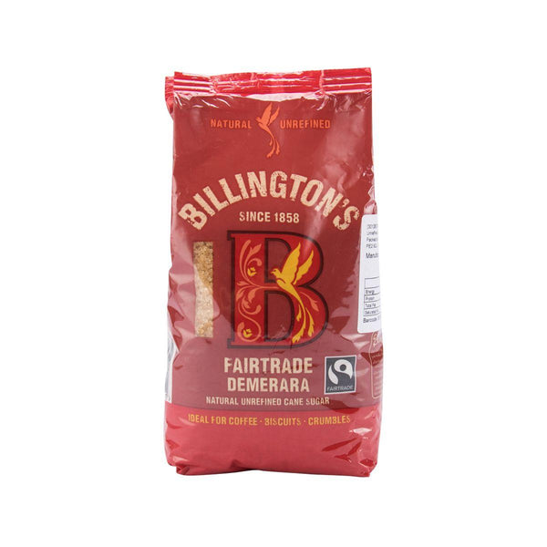 Billington'S Fairtrade Demerara Natural Unrefined Cane Sugar(500g)