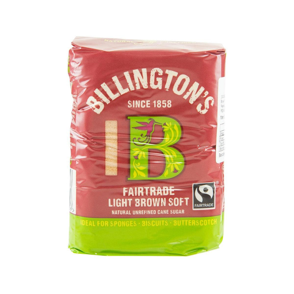 BILLINGTON'S Fairtrade Natural Light Brown Soft Unrefined Cane Sugar  (500g)