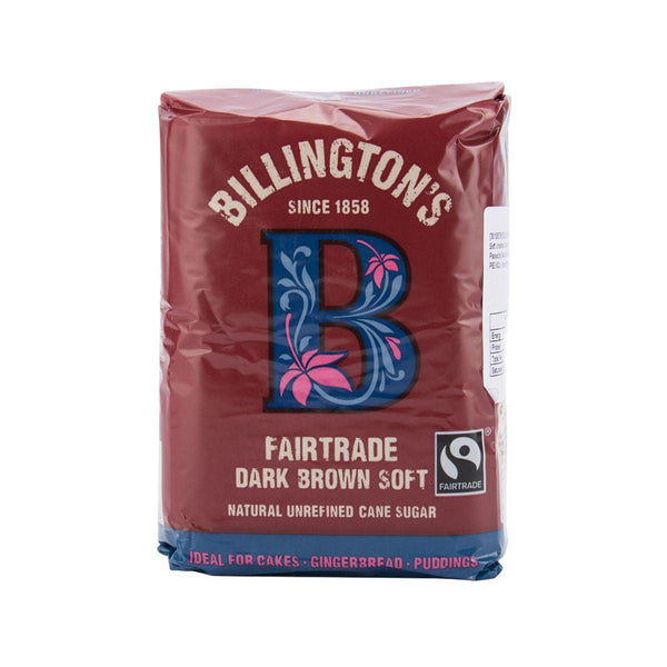 BILLINGTON'S Fairtrade Natural Dark Brown Soft Unrefined Cane Sugar  (500g)