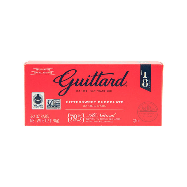 GUITTARD Bittersweet Chocolate Gourmet Baking Bars - 70% Cacao  (170g)