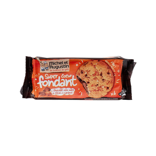 MICHEL & AUGUSTIN Cookies with Pecans, Chocolate Chips, Caramel and Dark Chocolate Filling  (180g)