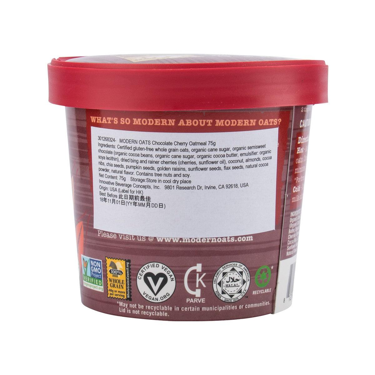 Modern Oats Chocolate Cherry Oatmeal75g Citysuper
