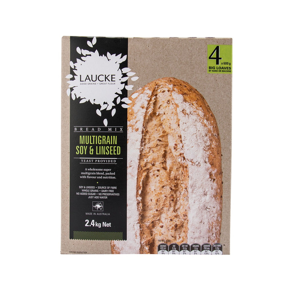 Laucke Bread Mix - Multigrain Soy & Linseed(2.4kg)