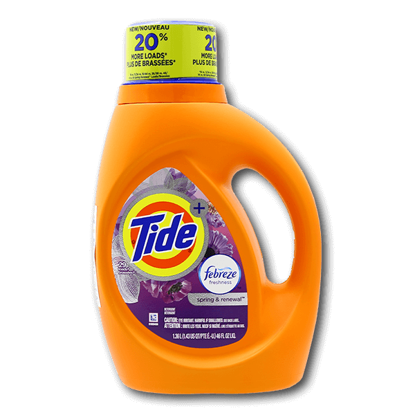 TIDE Concentrated Liquid Detergent - Spring & Renewal Scent  (46fl oz)