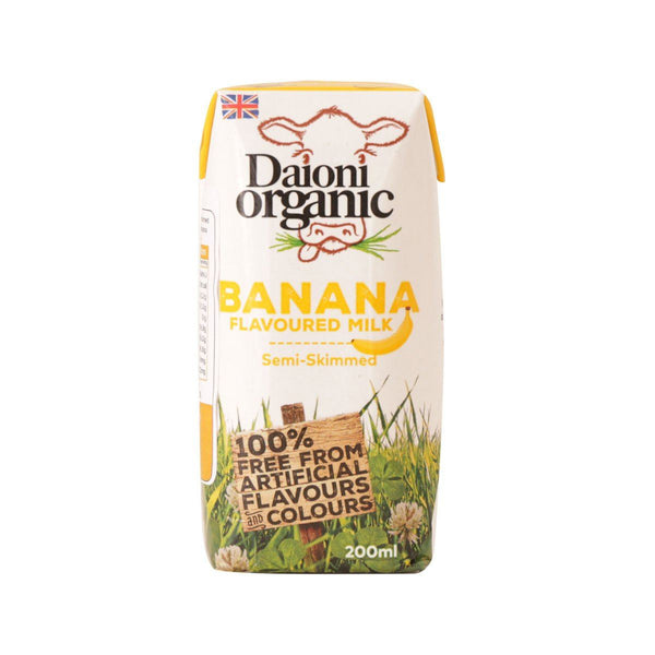 DAIONI Welsh Organic Semi-Skimmed Milk Beverage With Banana Flavor  (200mL)