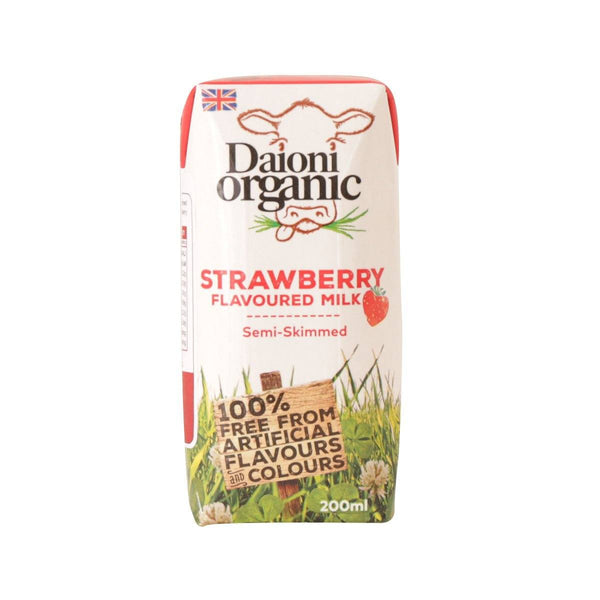 DAIONI Welsh Organic Semi-Skimmed Milk Beverage With Strawberry Flavor  (200mL)
