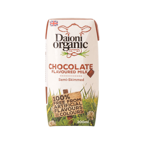 DAIONI Welsh Organic Semi-Skimmed Milk Beverage With Chocolate Flavor  (200mL)