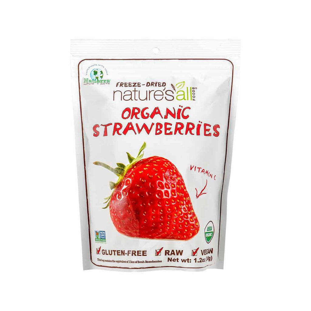 Nature's All Organic Freeze-Dried Strawberry(34g)