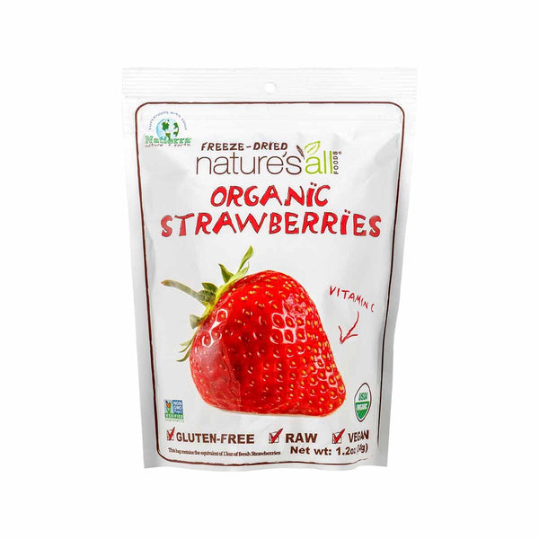 NATURE'S ALL Organic Freeze-Dried Strawberry  (34g)