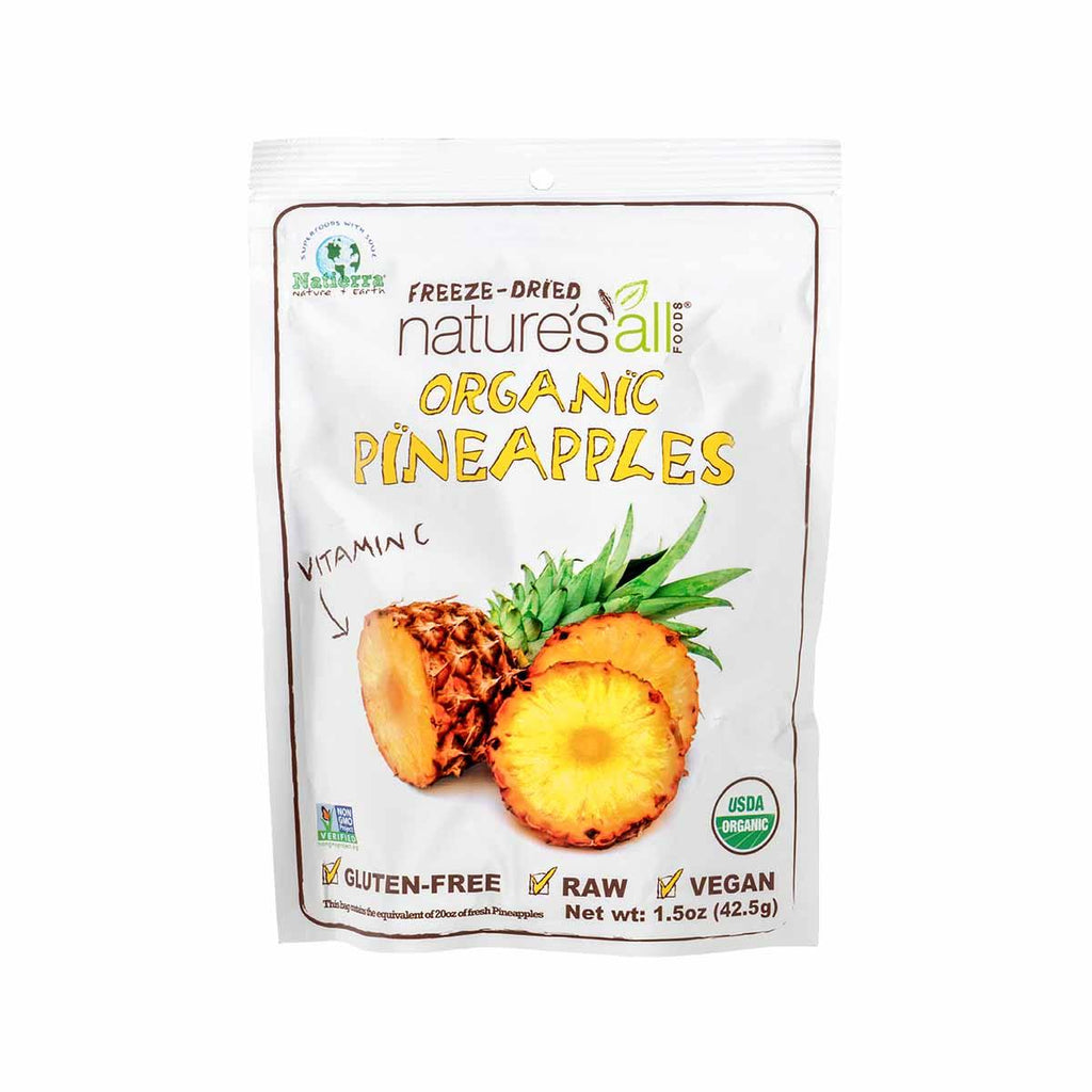 NATURE'S ALL Organic Freeze-Dried Pineapple  (43g)