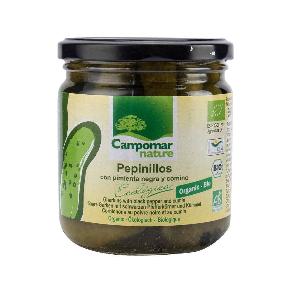 CAMPOMAR Organic Gherkins with Black Pepper and Cumin  (350g)