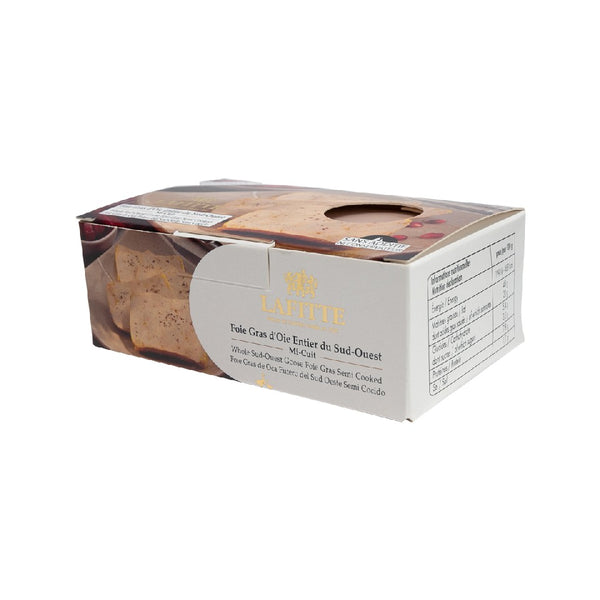 LAFITTE Whole Goose Foie Gras - Semi Cooked  (200g)