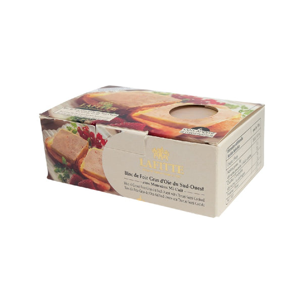 LAFITTE Goose Foie Gras Block with Pieces - Half Cooked  (200g)