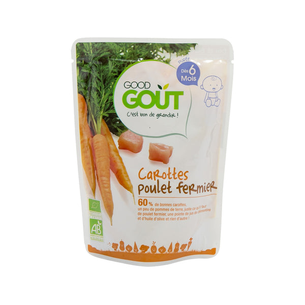 GOOD GOUT Organic Baby Food - Carrots And Chicken  (190g)