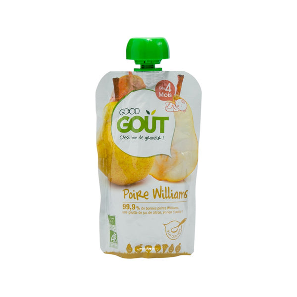 GOOD GOUT Organic Baby Food - Williams Pears Puree  (120g)