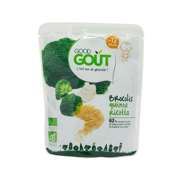 GOOD GOUT Organic Baby Food - Broccoli, Quinoa And Ricotta  (220g)