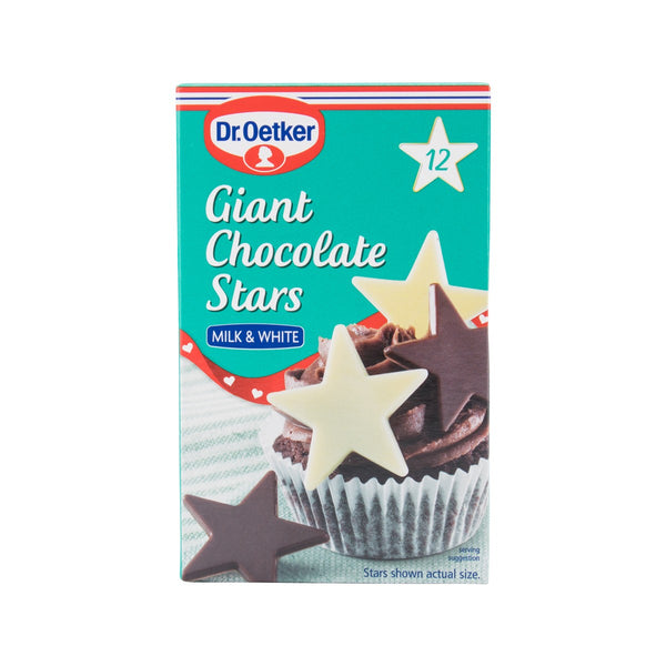 Dr. Oetker Giant Chocolate Stars - Milk & White(20g)