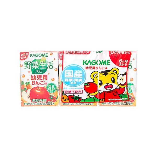 KAGOME Vegetable and Fruit Juice - Apple  (3 x 100mL)