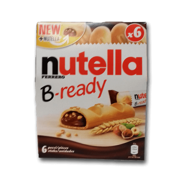 NUTELLA B-Ready Wafer Biscuits Stuffed with Hazelnut Cocoa Spread  (132g)