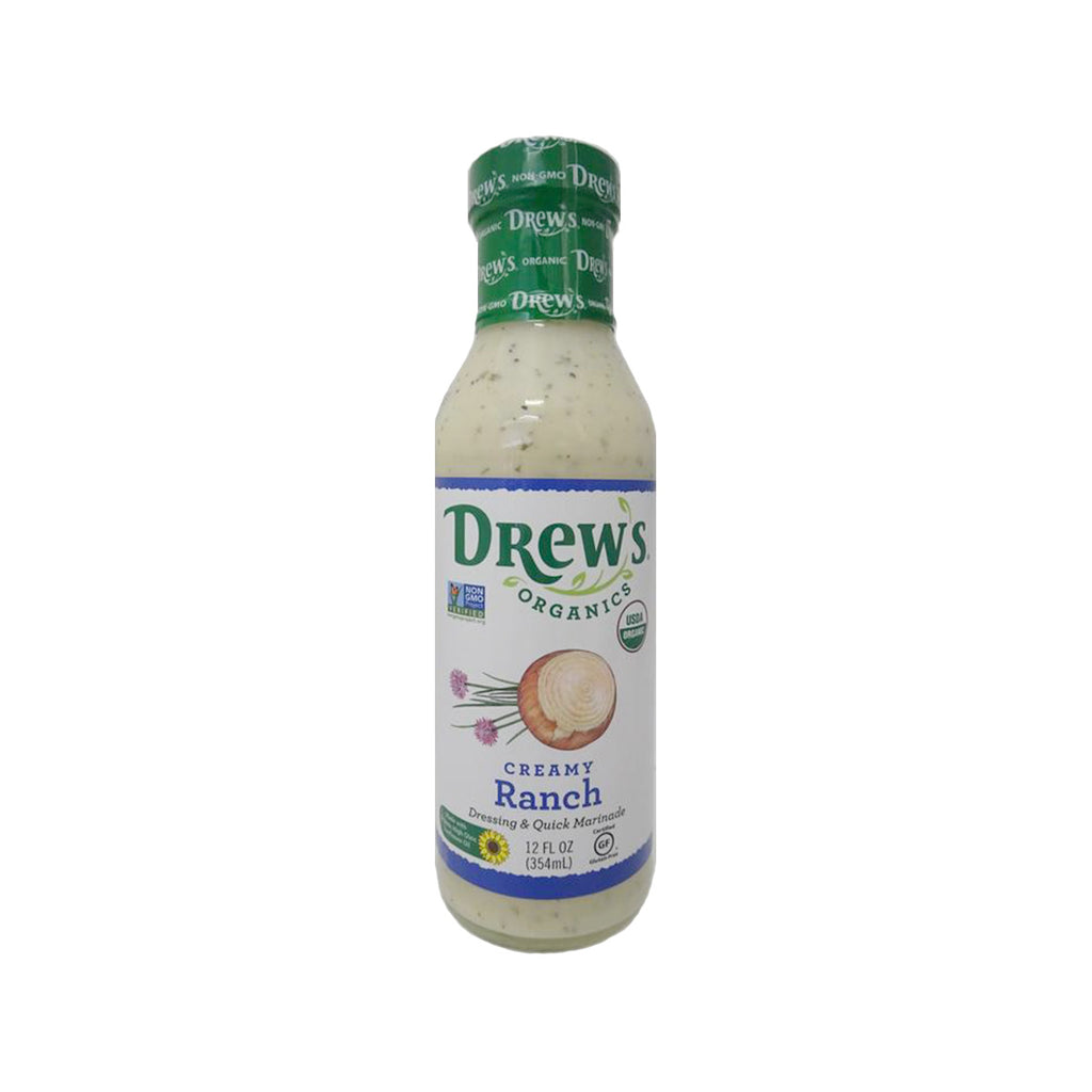 DREW'S Creamy Ranch Dressing & Quick Marinade  (354mL)
