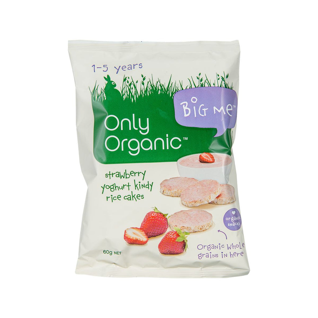Only Organic Strawberry Yoghurt Kindy Rice Cakes(60g)