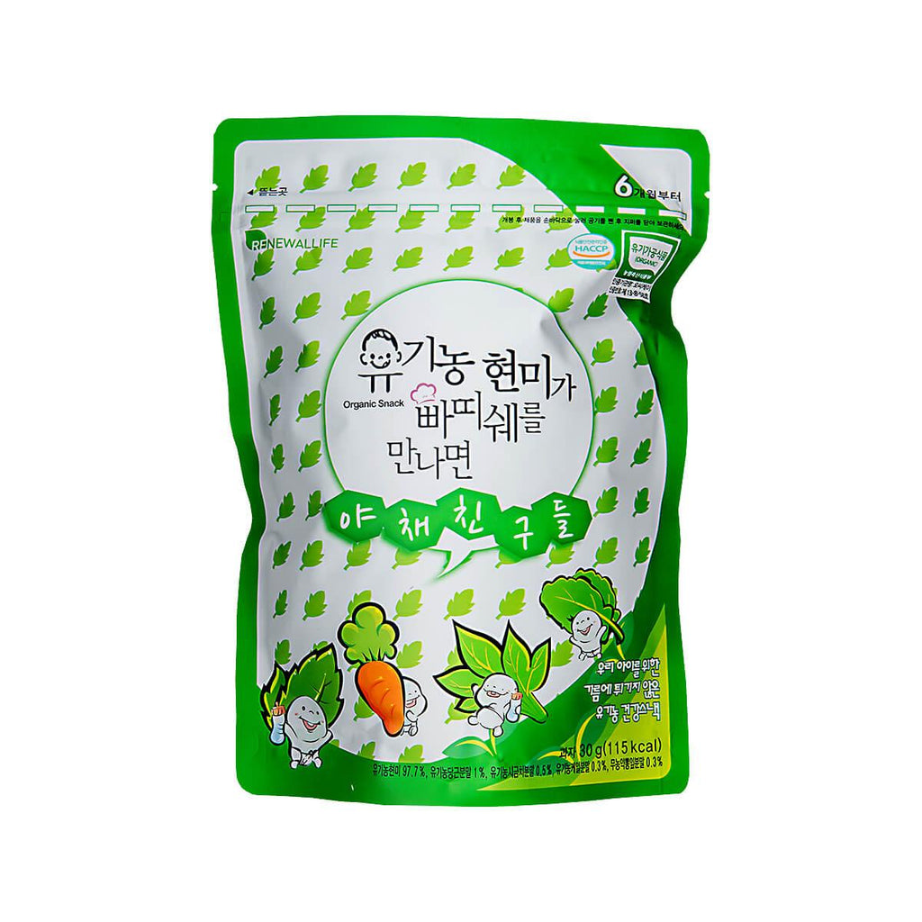 RENEWALLIFE Organic Brown Rice Snack - Vegetable [From 6 Months]  (30g)