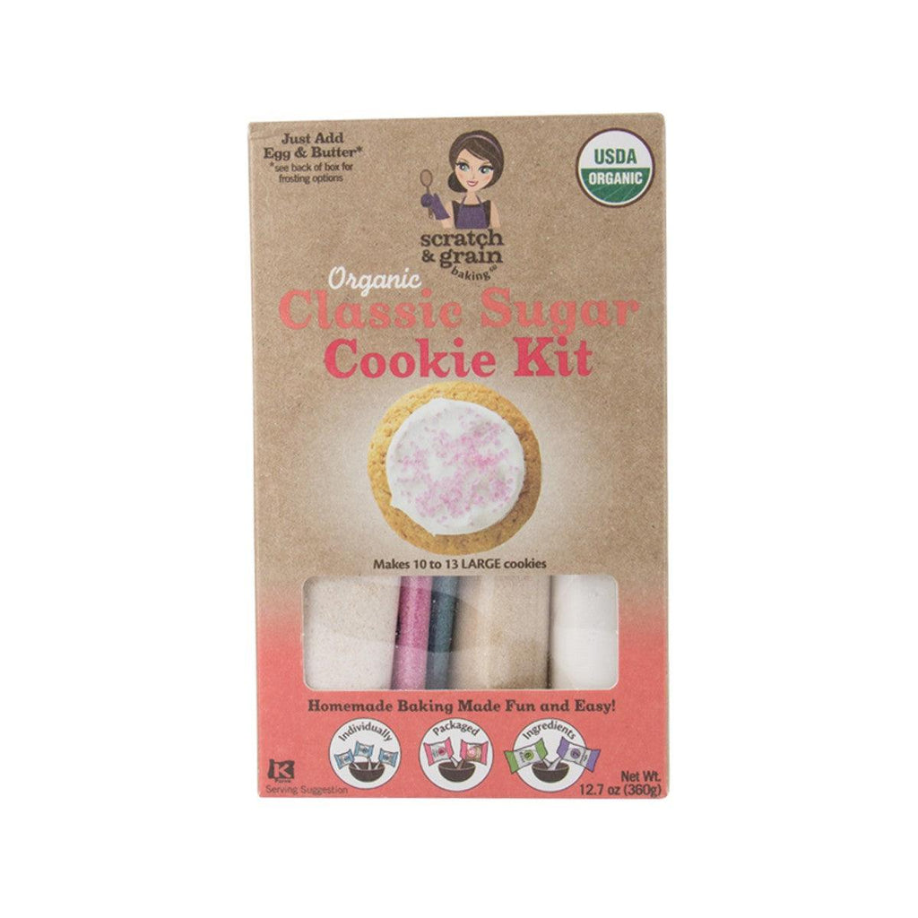 SCRATCH & GRAIN Organic Classic Sugar Cookie Kit  (360g)