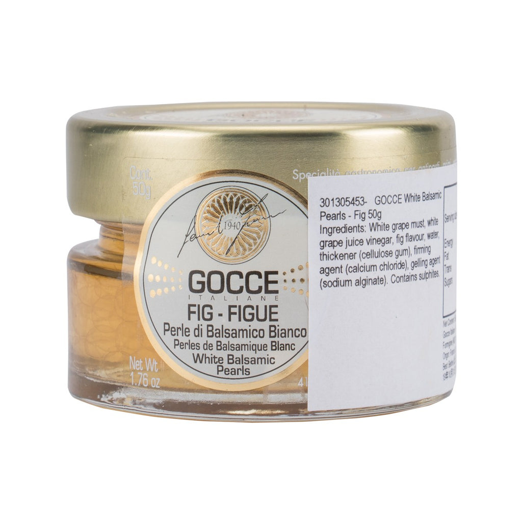 GOCCE ITALIANE White Balsamic Pearls - Fig  (50g)