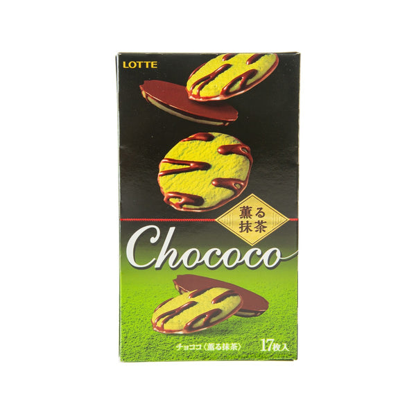 LOTTE Chococo Cookie - Fragrant Matcha  (17pcs)